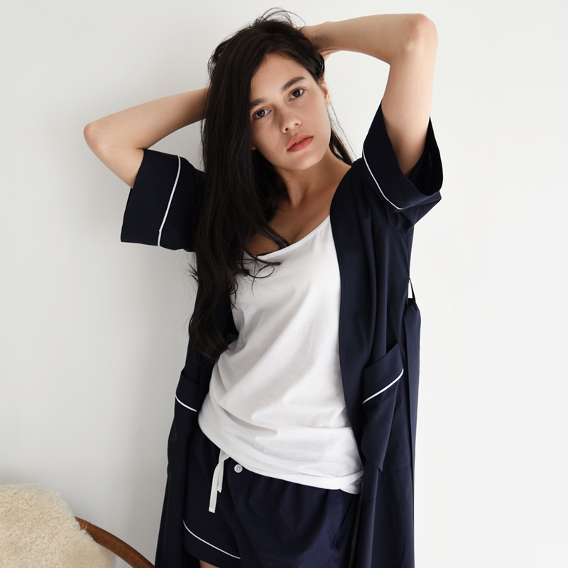 PJM Long Robe (Navy)