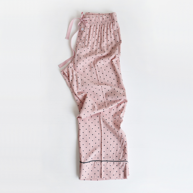 Piped PJM Pants (Pink dots)