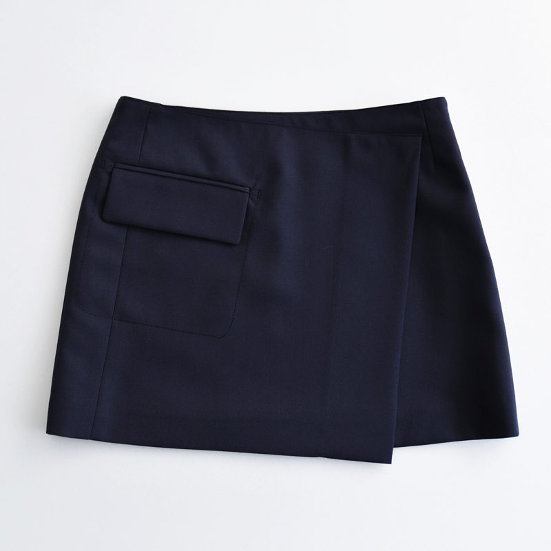[Robe] Pocket wrap skirt