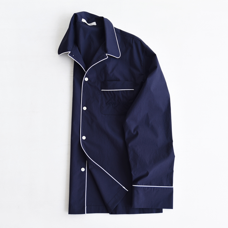 M Piped PJM Shirt (Navy)