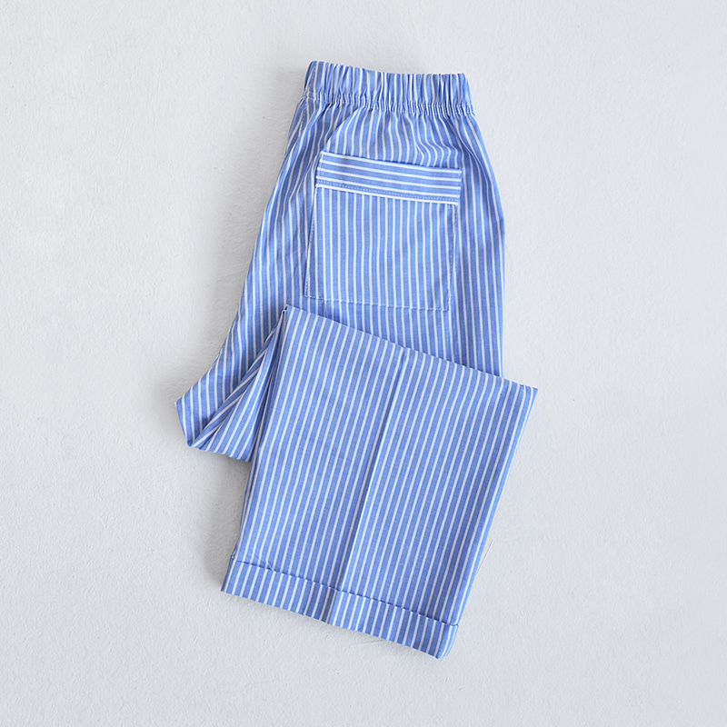 Petit Piped PJM Pants (Blue stripe)