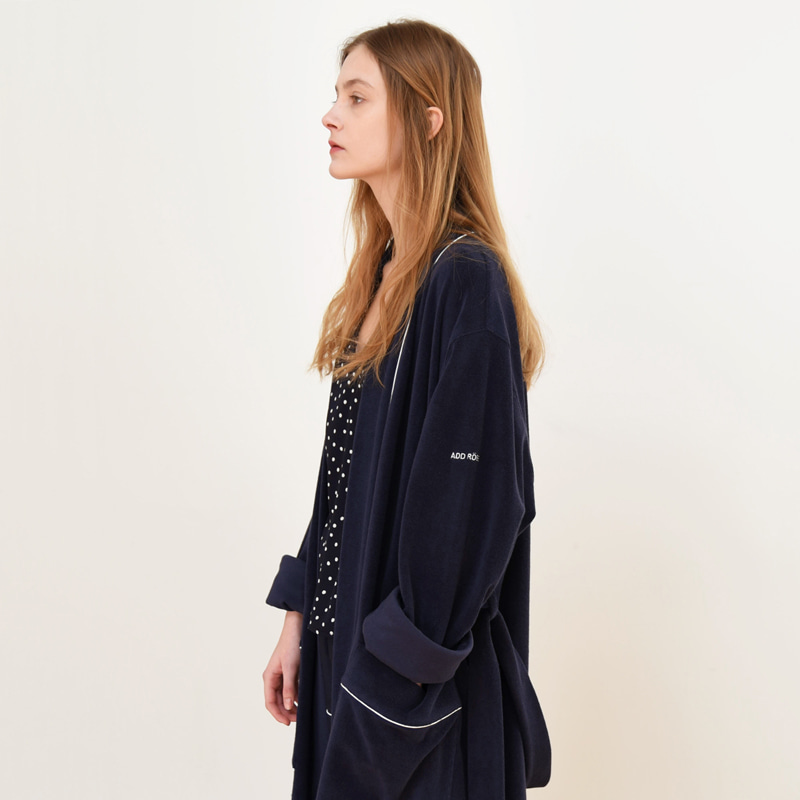 Terry Lounge & Bath Robe (Navy)